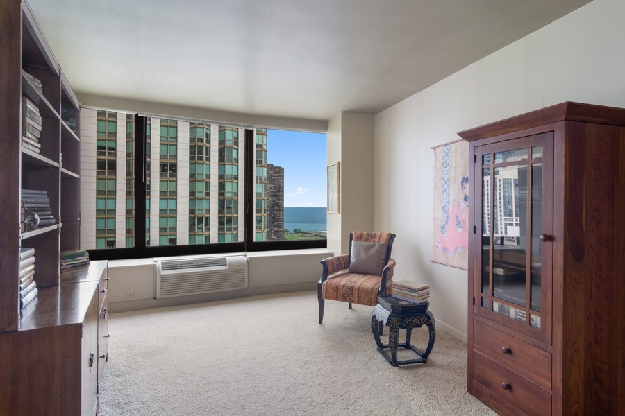 Real Estate Photography - 155 North Harbor Drive, Unit 3508, Chicago, IL, 60601 - 2nd Bedroom