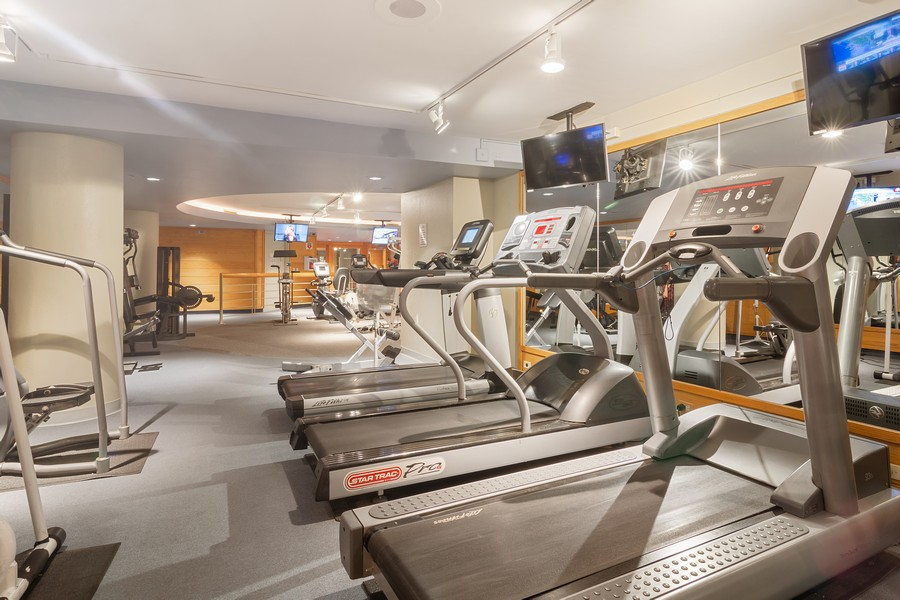 Real Estate Photography - 155 North Harbor Drive, Unit 3508, Chicago, IL, 60601 - Fitness Room