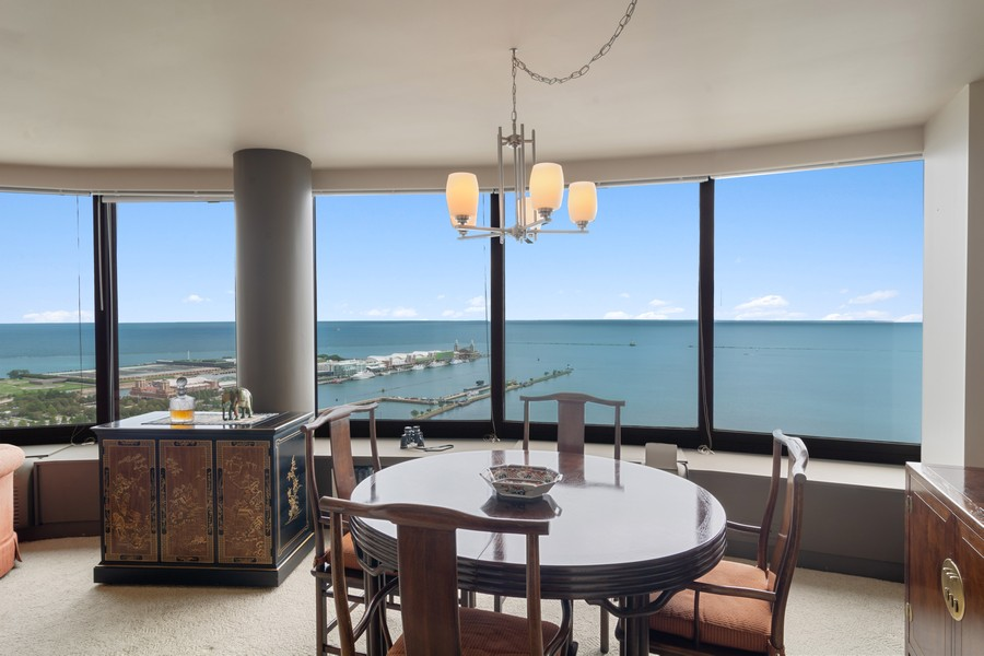 Real Estate Photography - 155 North Harbor Drive, Unit 3508, Chicago, IL, 60601 - Dining Room