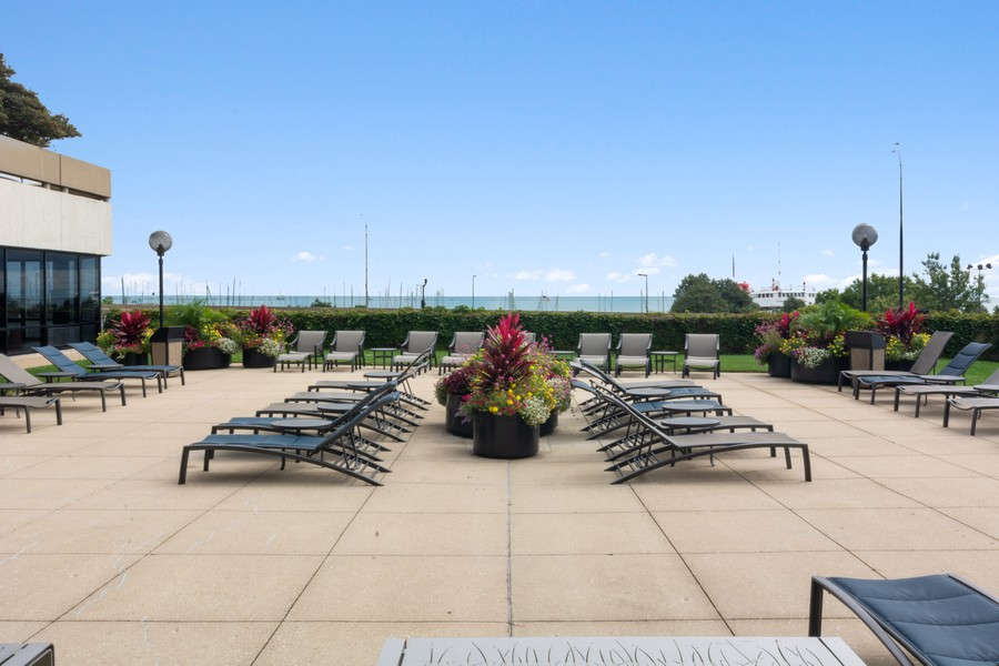 Real Estate Photography - 155 North Harbor Drive, Unit 3508, Chicago, IL, 60601 - Deck