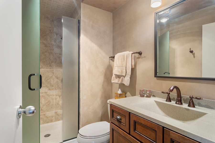 Real Estate Photography - 155 North Harbor Drive, Unit 3508, Chicago, IL, 60601 - Bathroom
