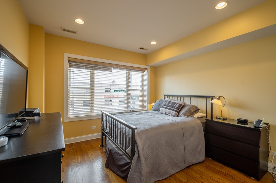 Real Estate Photography - 5300 N Kedzie, #1, Chicago, IL, 60625 - Master Bedroom
