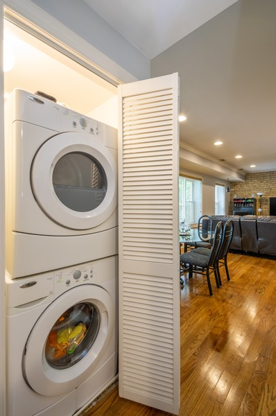 Real Estate Photography - 5300 N Kedzie, #1, Chicago, IL, 60625 - Laundry Room
