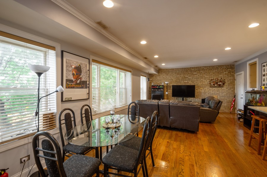 Real Estate Photography - 5300 N Kedzie, #1, Chicago, IL, 60625 - Living Room / Dining Room