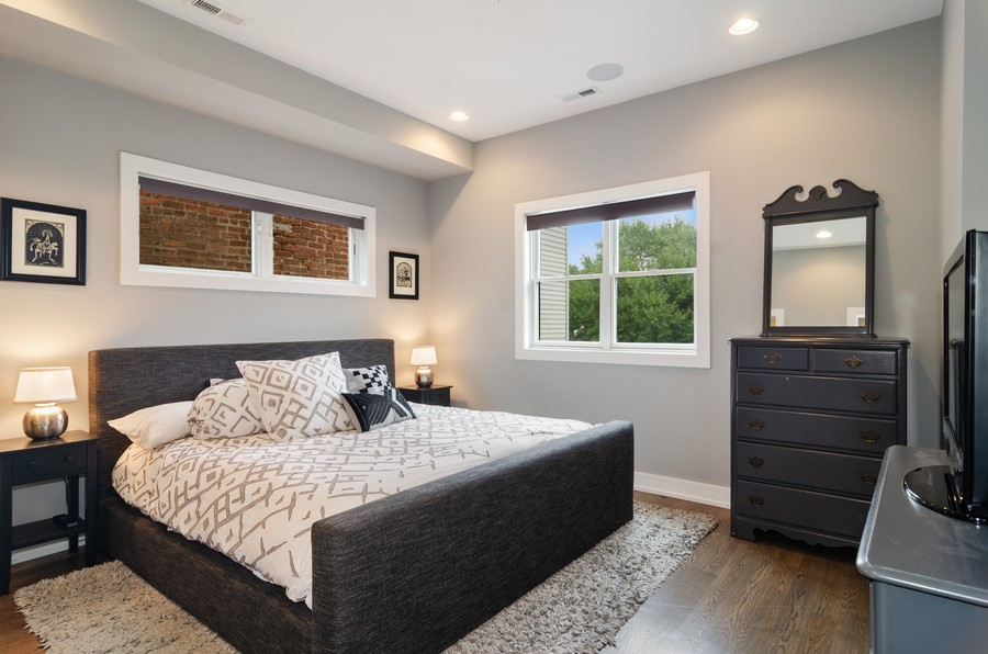 Real Estate Photography - 1425 N leavitt st, Unit 3, Chicago, IL, 60622 - Master Bedroom