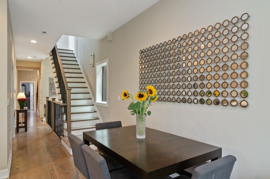 Real Estate Photography - 1425 N leavitt st, Unit 3, Chicago, IL, 60622 - Dining Room