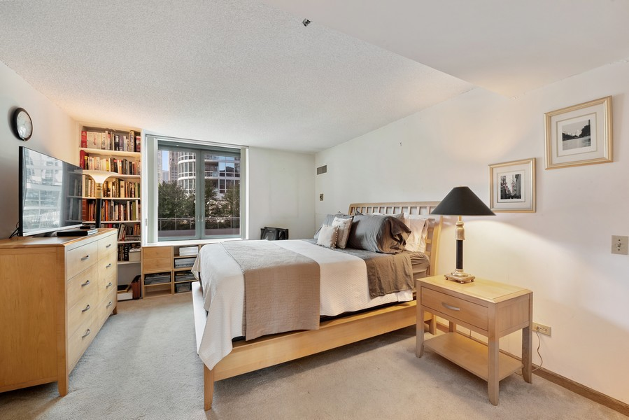 Real Estate Photography - 480 N McClurg Ct, 820, Chicago, IL, 60611 - Master Bedroom