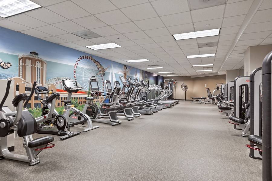 Real Estate Photography - 480 N McClurg Ct, 820, Chicago, IL, 60611 - Exercise Room