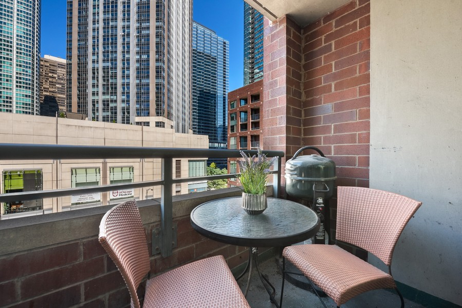 Real Estate Photography - 480 N McClurg Ct, 820, Chicago, IL, 60611 - Balcony