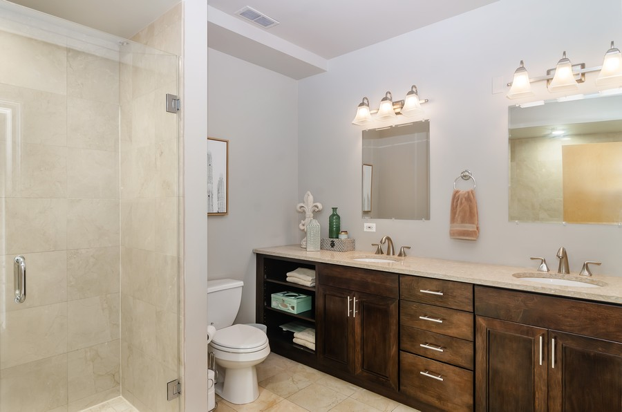 Real Estate Photography - 1444 N Orleans St, Unit 7B, Chicago, IL, 60610 - Master Bathroom