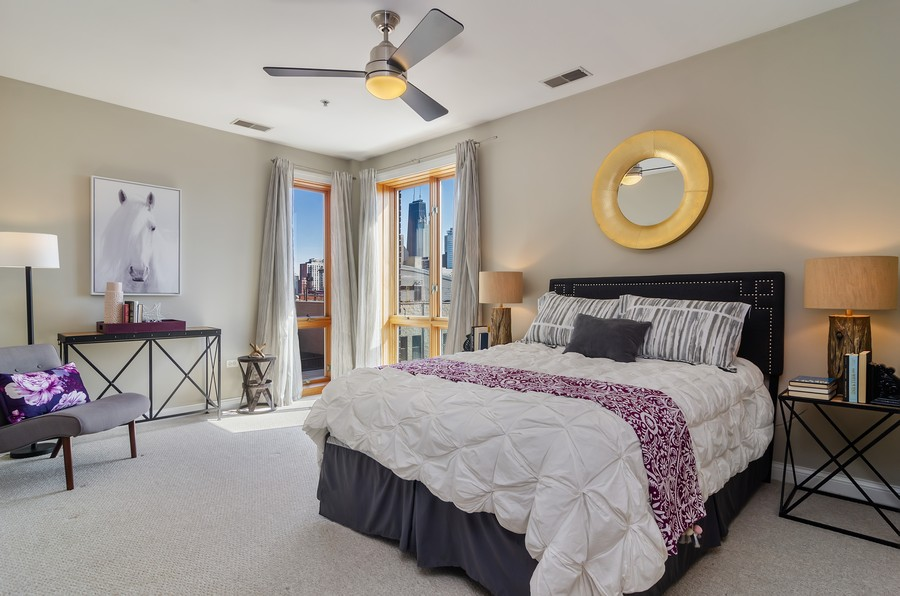 Real Estate Photography - 1444 N Orleans St, Unit 7B, Chicago, IL, 60610 - Master Bedroom