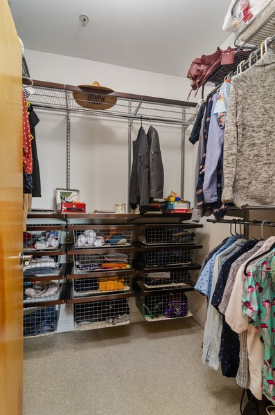 Real Estate Photography - 1444 N Orleans St, Unit 7B, Chicago, IL, 60610 - Master Bedroom Closet