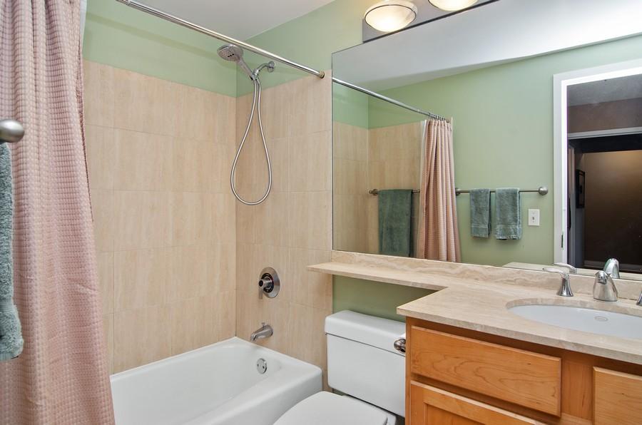 Real Estate Photography - 350 W Belden, Unit 406, Chicago, IL, 60614 - Master Bathroom