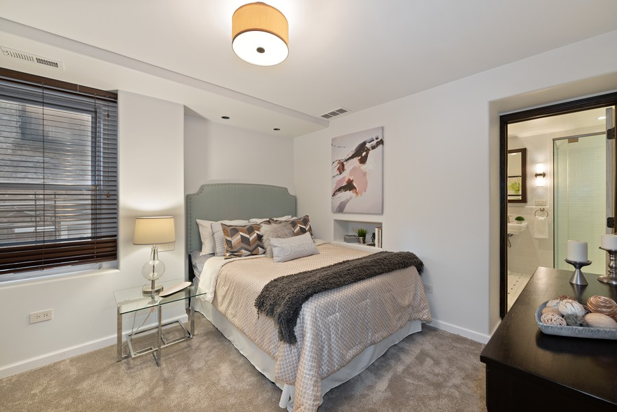 Real Estate Photography - 1234 N Dearborn St, Unit GR, Chicago, IL, 60610 - Master Bedroom