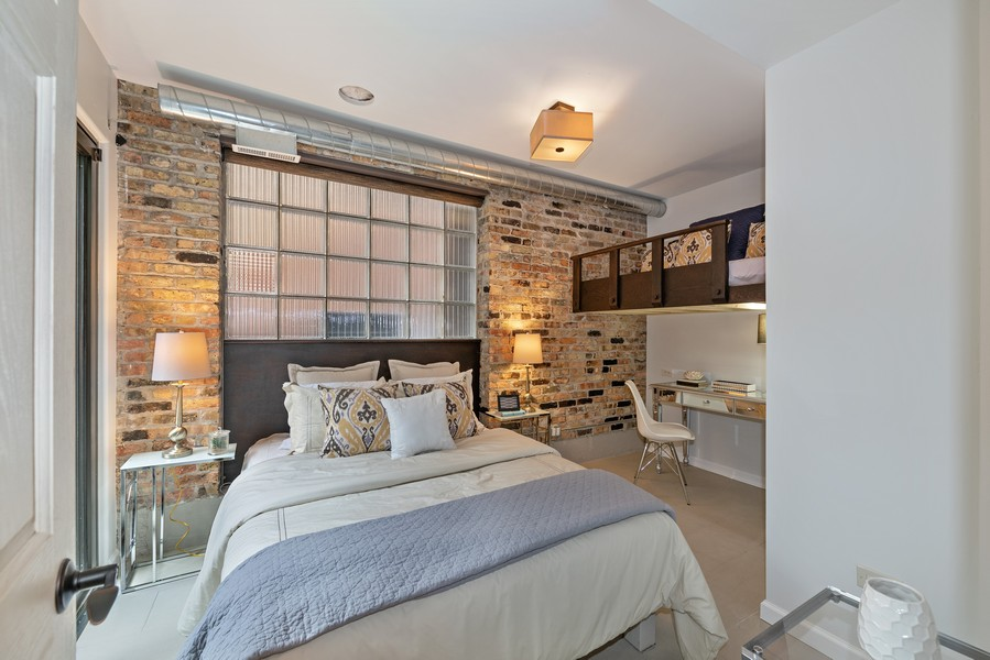 Real Estate Photography - 1234 N Dearborn St, Unit GR, Chicago, IL, 60610 - 2nd Bedroom