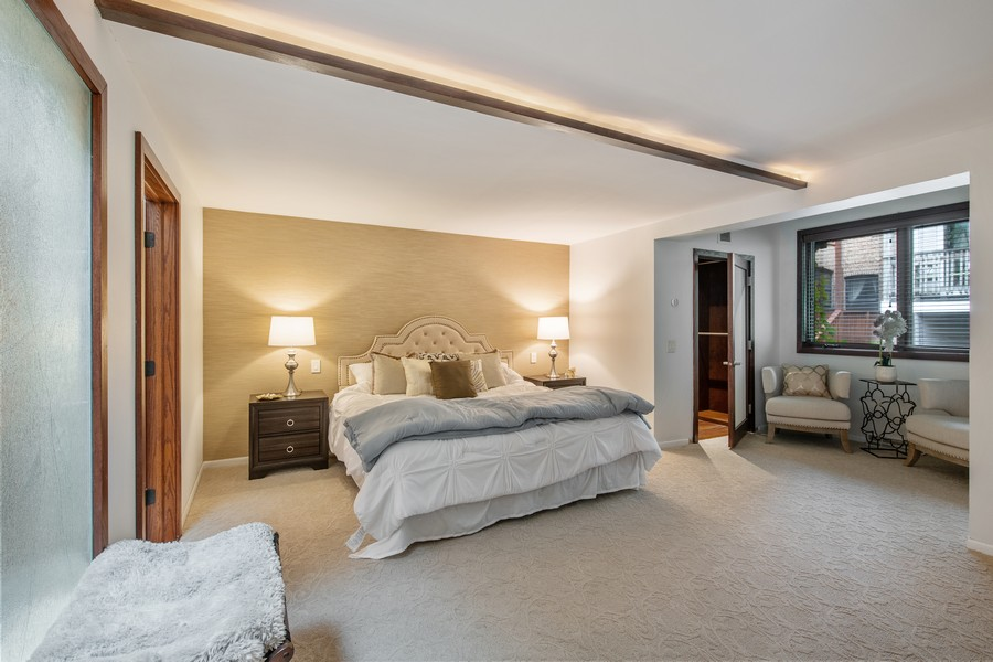 Real Estate Photography - 1234 N Dearborn St, Unit CH, Chicago, IL, 60610 - Master Bedroom