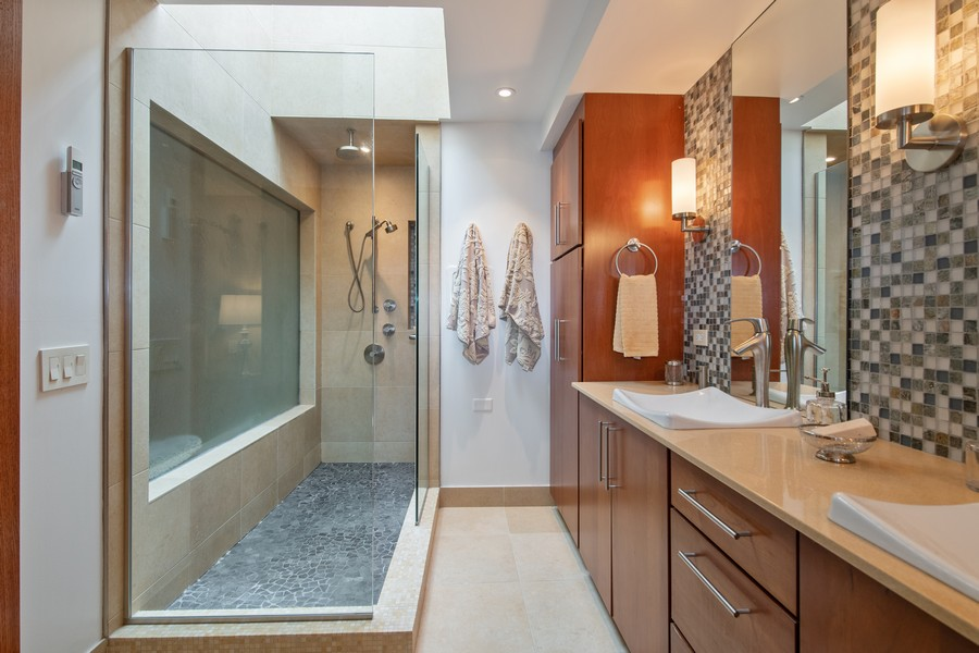 Real Estate Photography - 1234 N Dearborn St, Unit CH, Chicago, IL, 60610 - Master Bath  shower