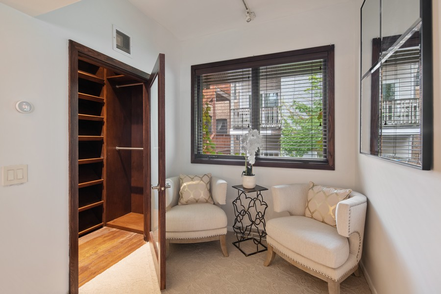Real Estate Photography - 1234 N Dearborn St, Unit CH, Chicago, IL, 60610 - Master Bedroom lounge and closet