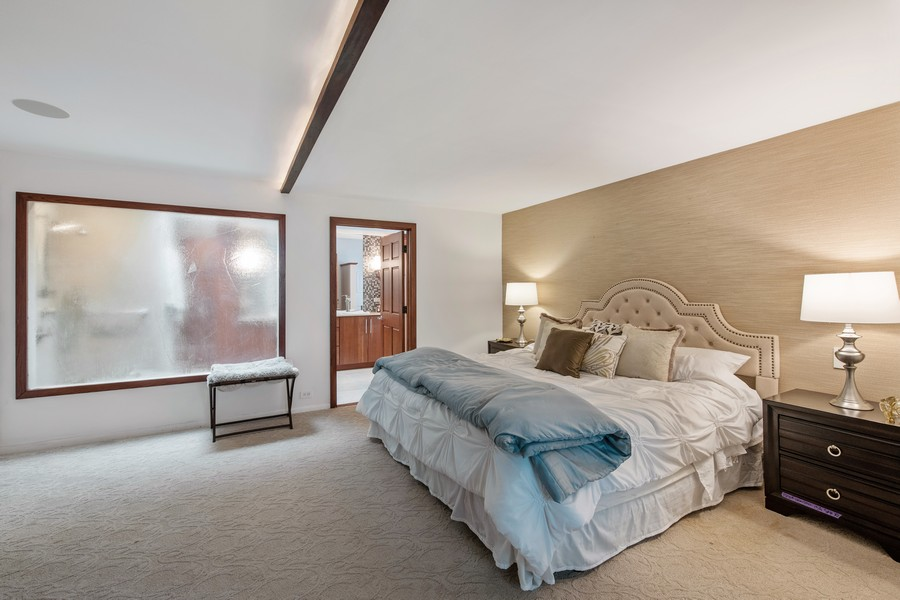 Real Estate Photography - 1234 N Dearborn St, Unit CH, Chicago, IL, 60610 - Master Bedroom w view of bath