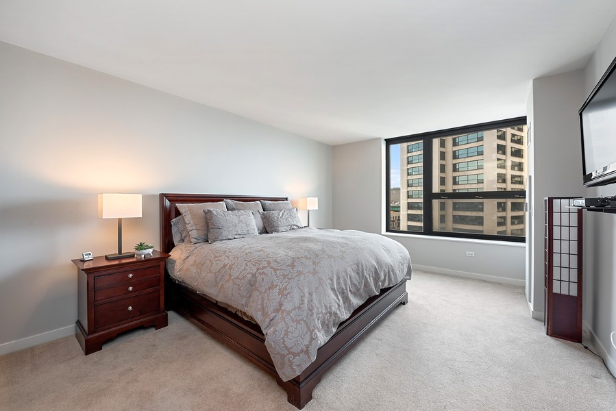 Real Estate Photography - 1160 S Michigan Ave, Unit 3304, Chicago, IL, 60605 - Master Bedroom