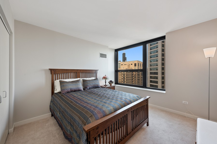 Real Estate Photography - 1160 S Michigan Ave, Unit 3304, Chicago, IL, 60605 - 2nd Bedroom