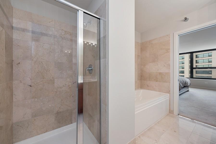 Real Estate Photography - 1160 S Michigan Ave, Unit 3304, Chicago, IL, 60605 - Master Bathroom