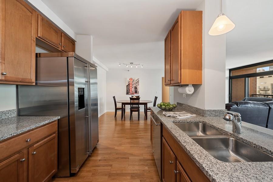 Real Estate Photography - 1160 S Michigan Ave, Unit 3304, Chicago, IL, 60605 - Kitchen