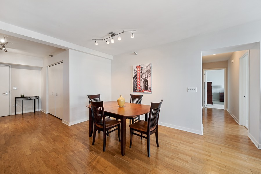 Real Estate Photography - 1160 S Michigan Ave, Unit 3304, Chicago, IL, 60605 - Dining Room