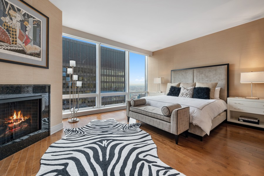 Real Estate Photography - 401 N Wabash, Unit 47G, Chicago, IL, 60611 - Master Bedroom