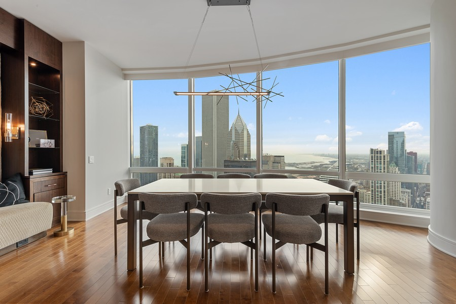 Real Estate Photography - 401 N Wabash, Unit 47G, Chicago, IL, 60611 - Dining Room