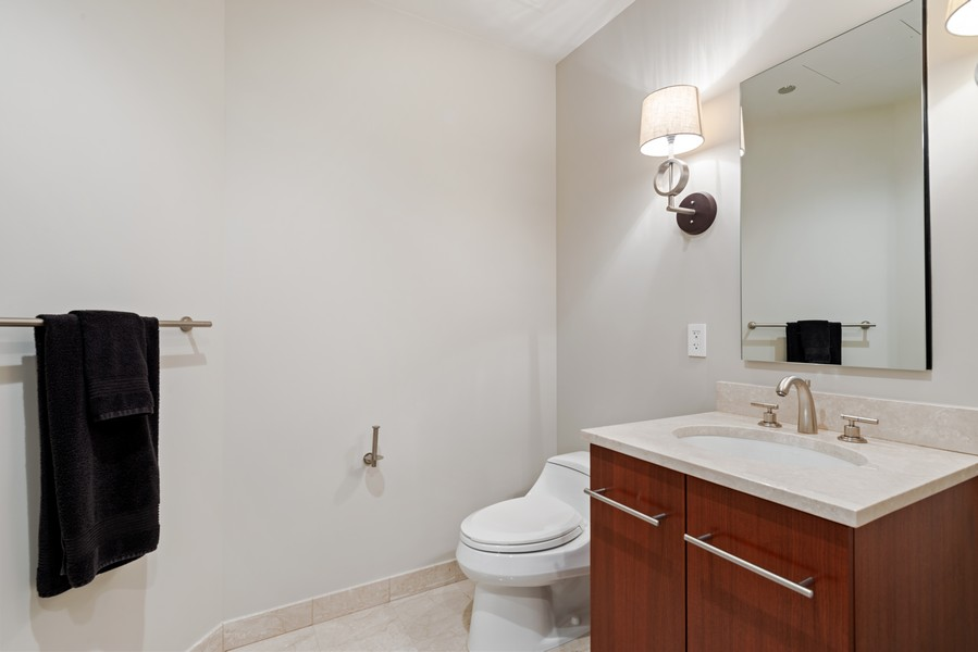 Real Estate Photography - 401 N Wabash, Unit 47G, Chicago, IL, 60611 - 2nd Bathroom