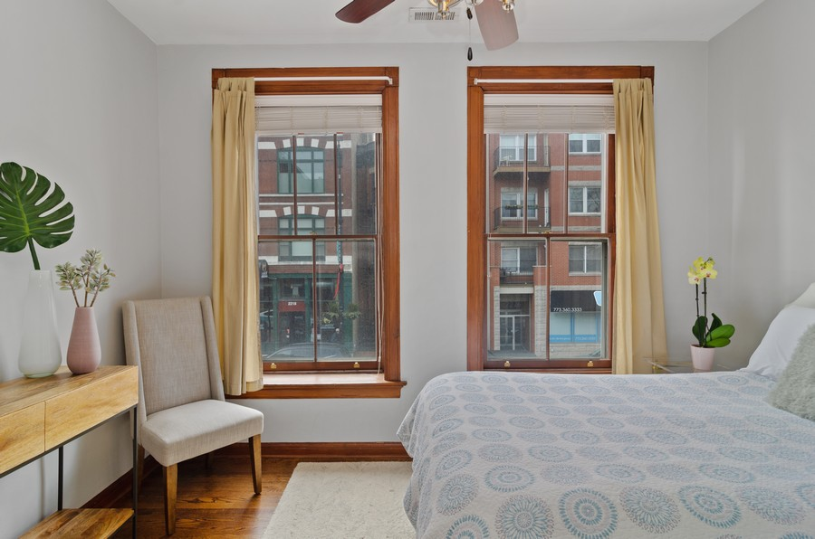 Real Estate Photography - 2221 N Lincoln Ave, Chicago, IL, 60614 - 2nd Bedroom