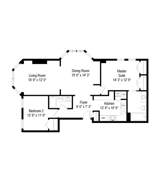 Real Estate Photography - 2221 N Lincoln Ave, Chicago, IL, 60614 - Floor Plan