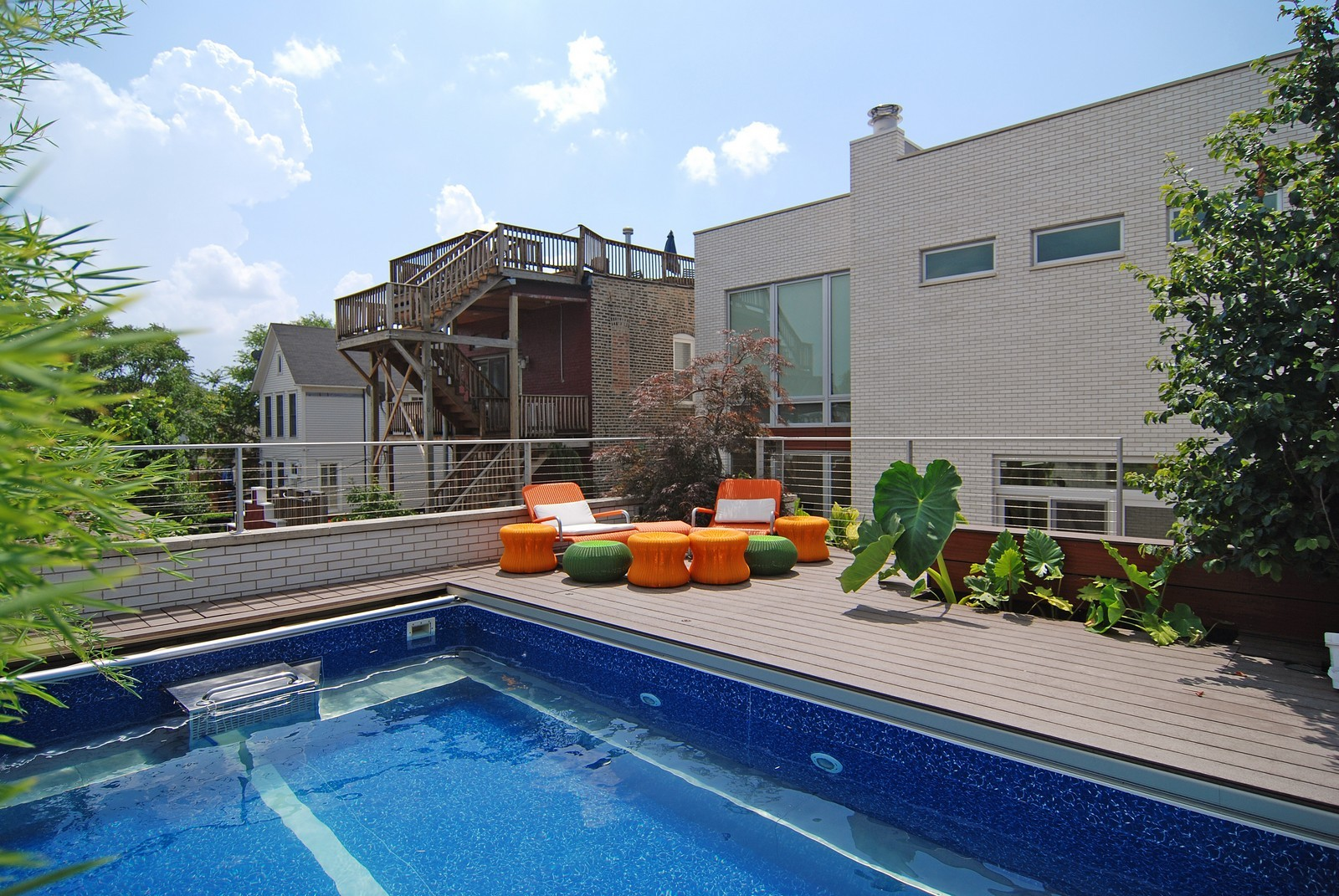 Real Estate Photography - 1837 N Winchester, Chicago, IL, 60622 - Pool