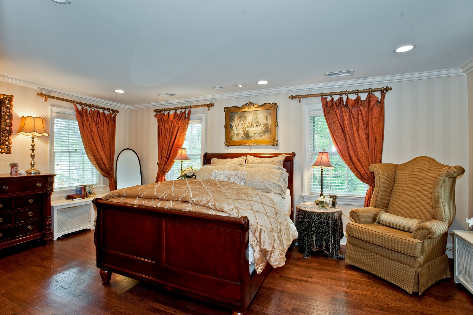 Real Estate Photography - 1161 Laurel, Winnetka, IL, 60093 - Master Bedroom