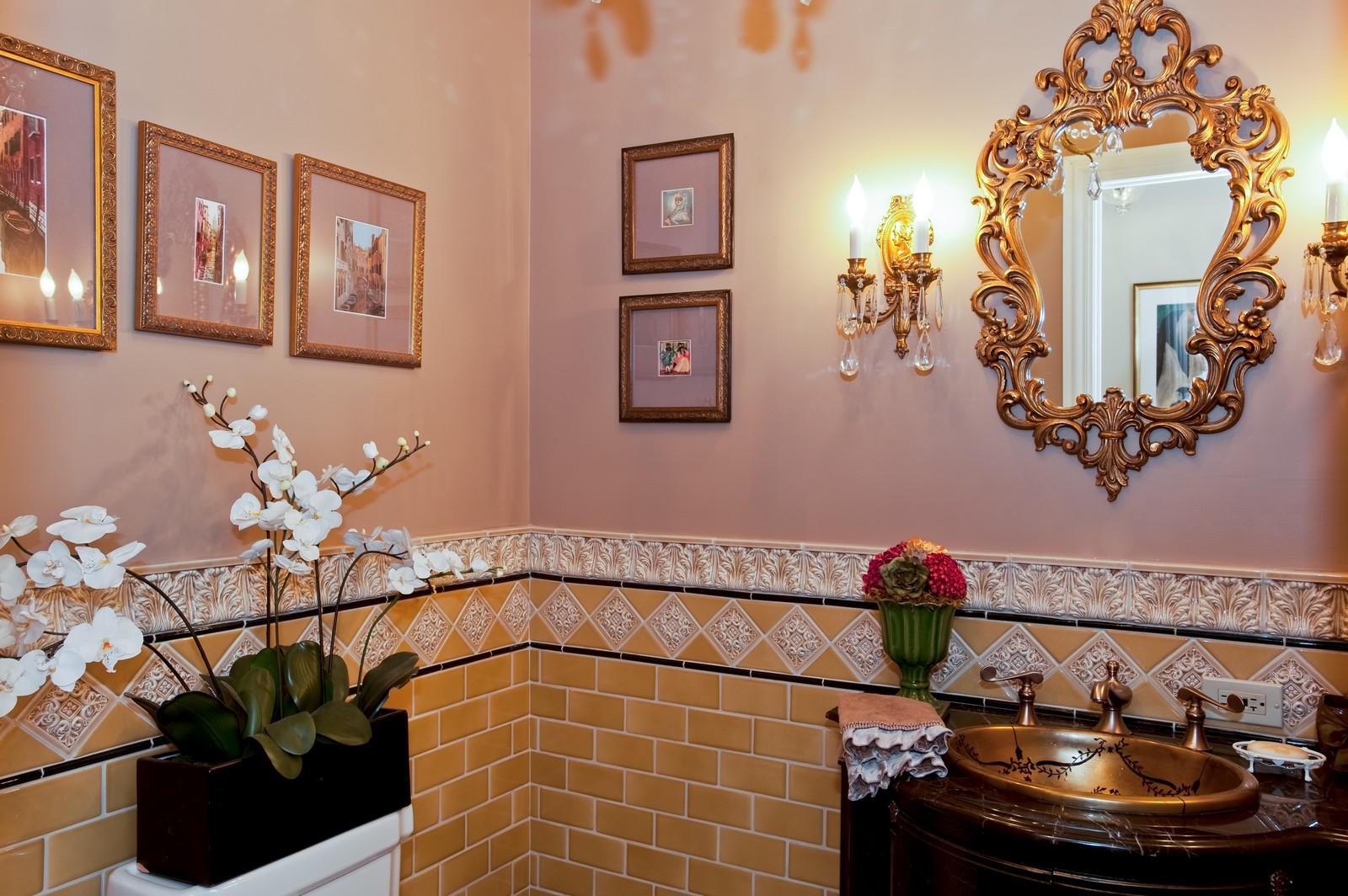 Real Estate Photography - 1161 Laurel, Winnetka, IL, 60093 - Half Bath