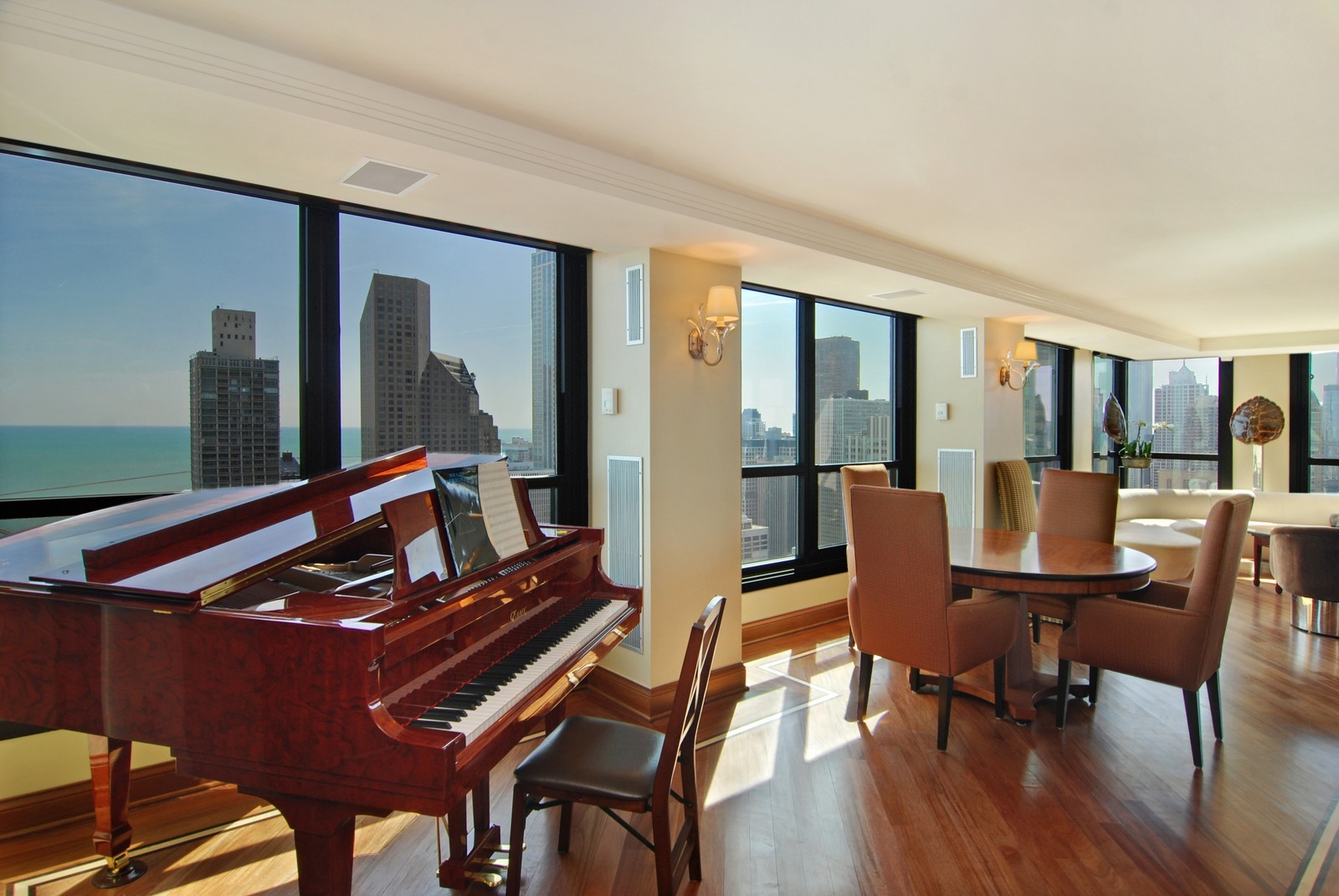 Real Estate Photography - 1030 N State, Unit 45G, Chicago, IL, 60610 - Piano / Breakfast Area