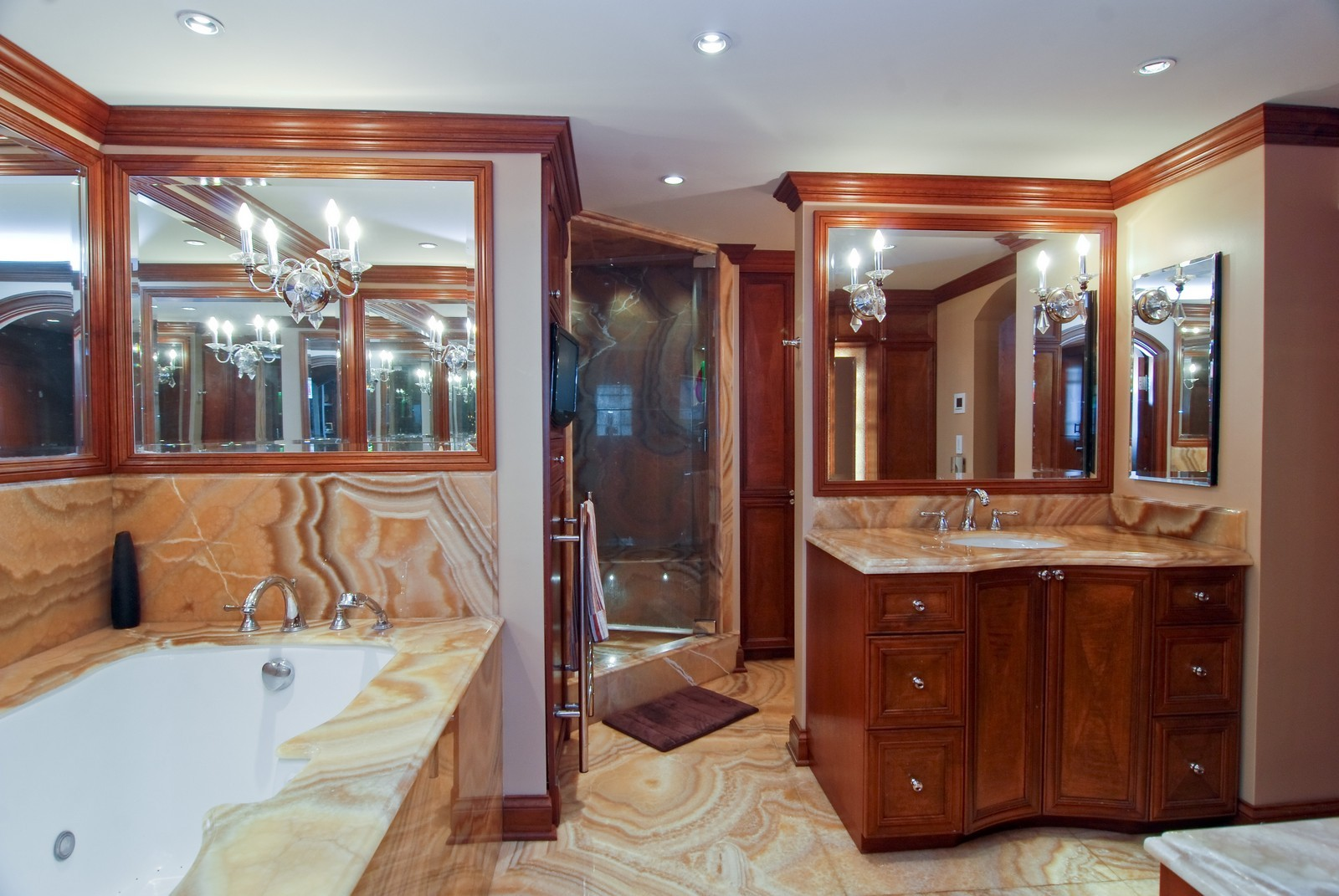 Real Estate Photography - 1030 N State, Unit 45G, Chicago, IL, 60610 - Master Bathroom 1