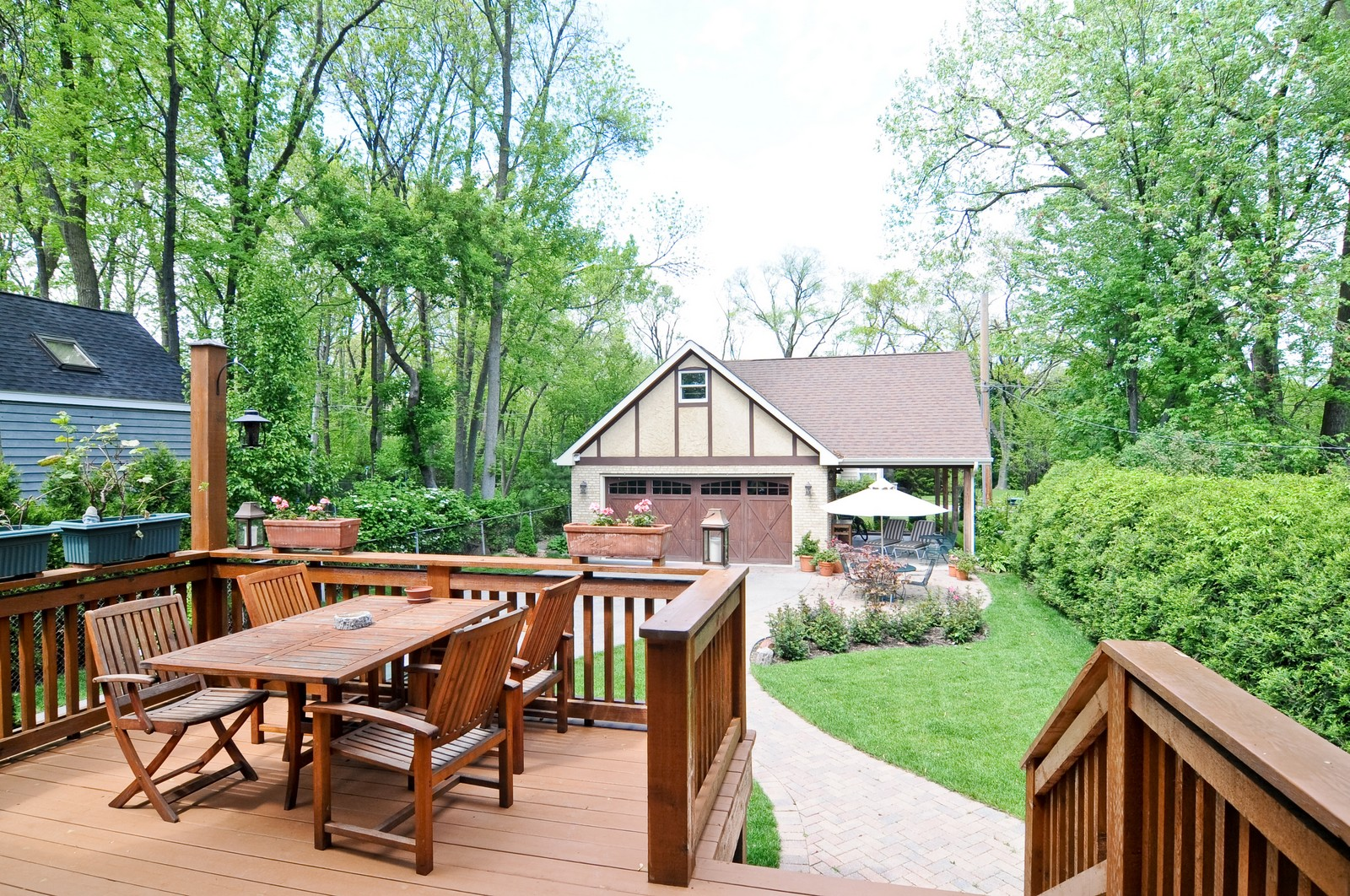 Real Estate Photography - 426 Spruce, Lake Forest, IL, 60045 - Deck