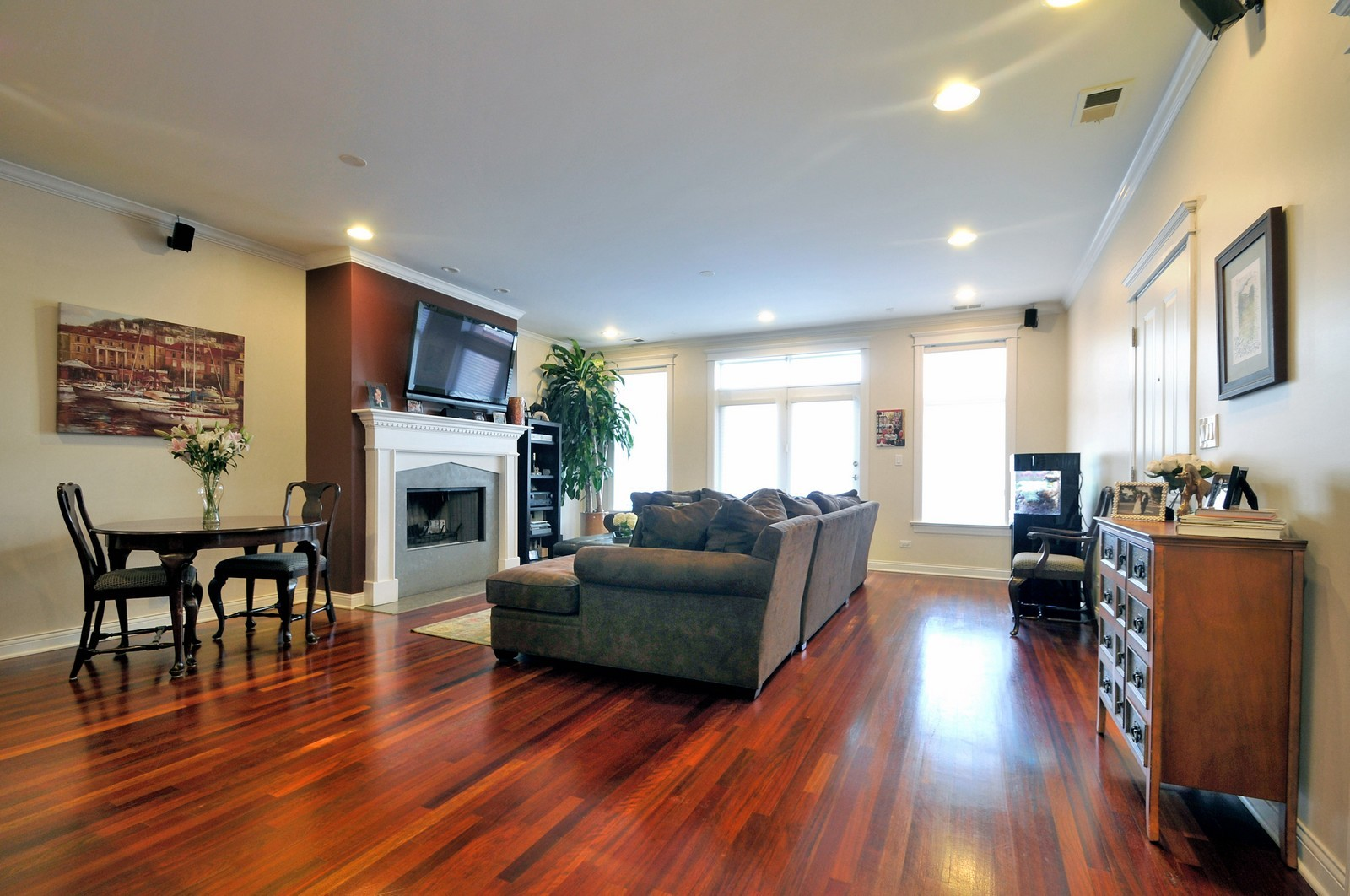 Real Estate Photography - 3056 N Clybourn, Unit 2N, Chicago, IL, 60618 - Living Room / Dining Room