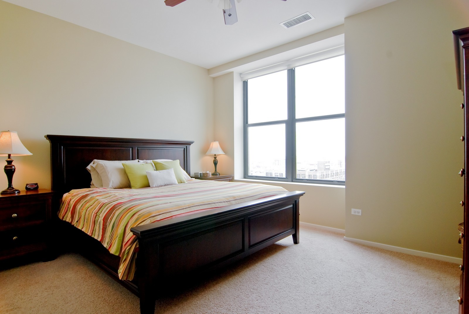 Real Estate Photography - 849 N. Franklin, 1107, Chicago, IL, 60610 - Master Bedroom