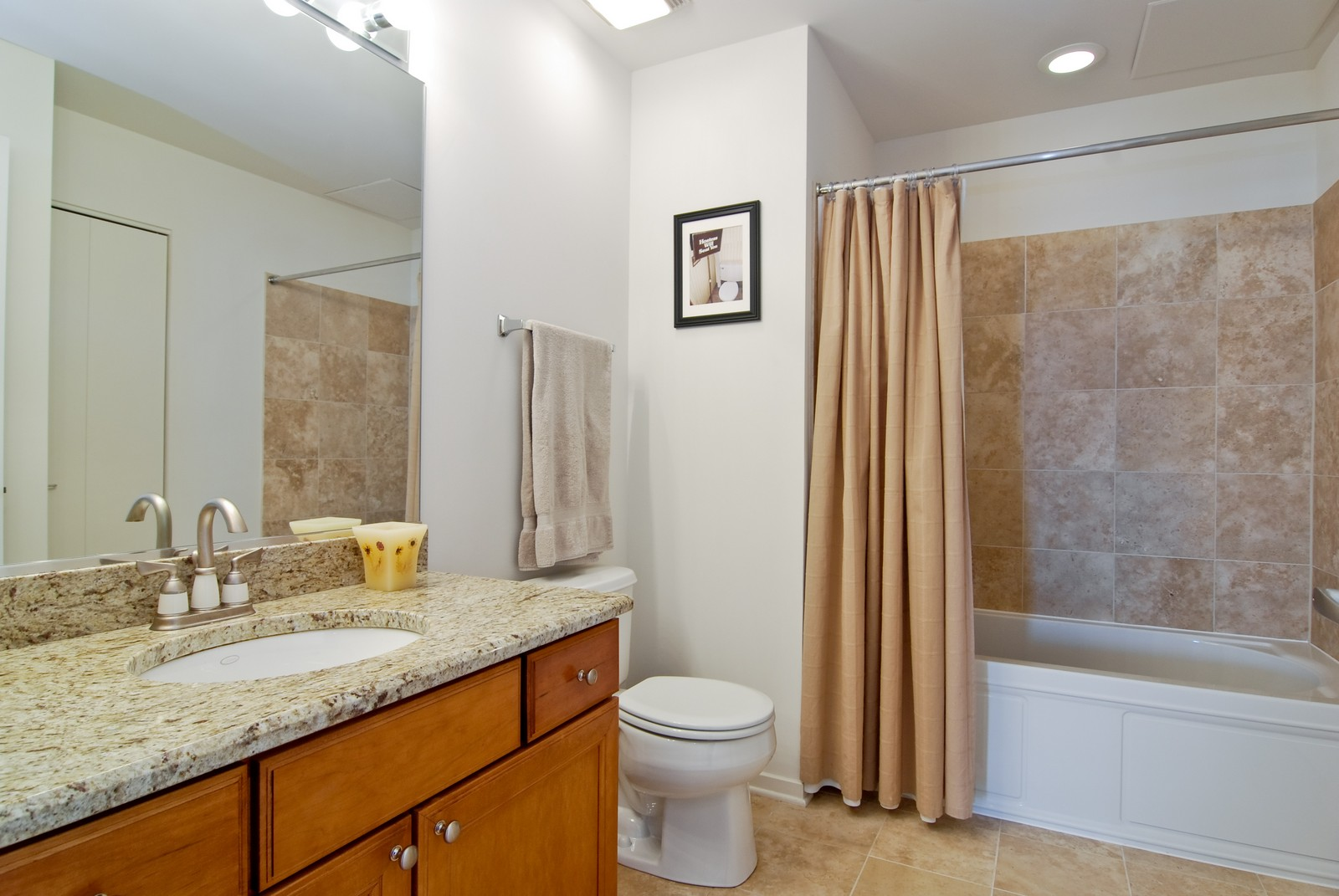 Real Estate Photography - 849 N. Franklin, 1107, Chicago, IL, 60610 - 2nd Bathroom