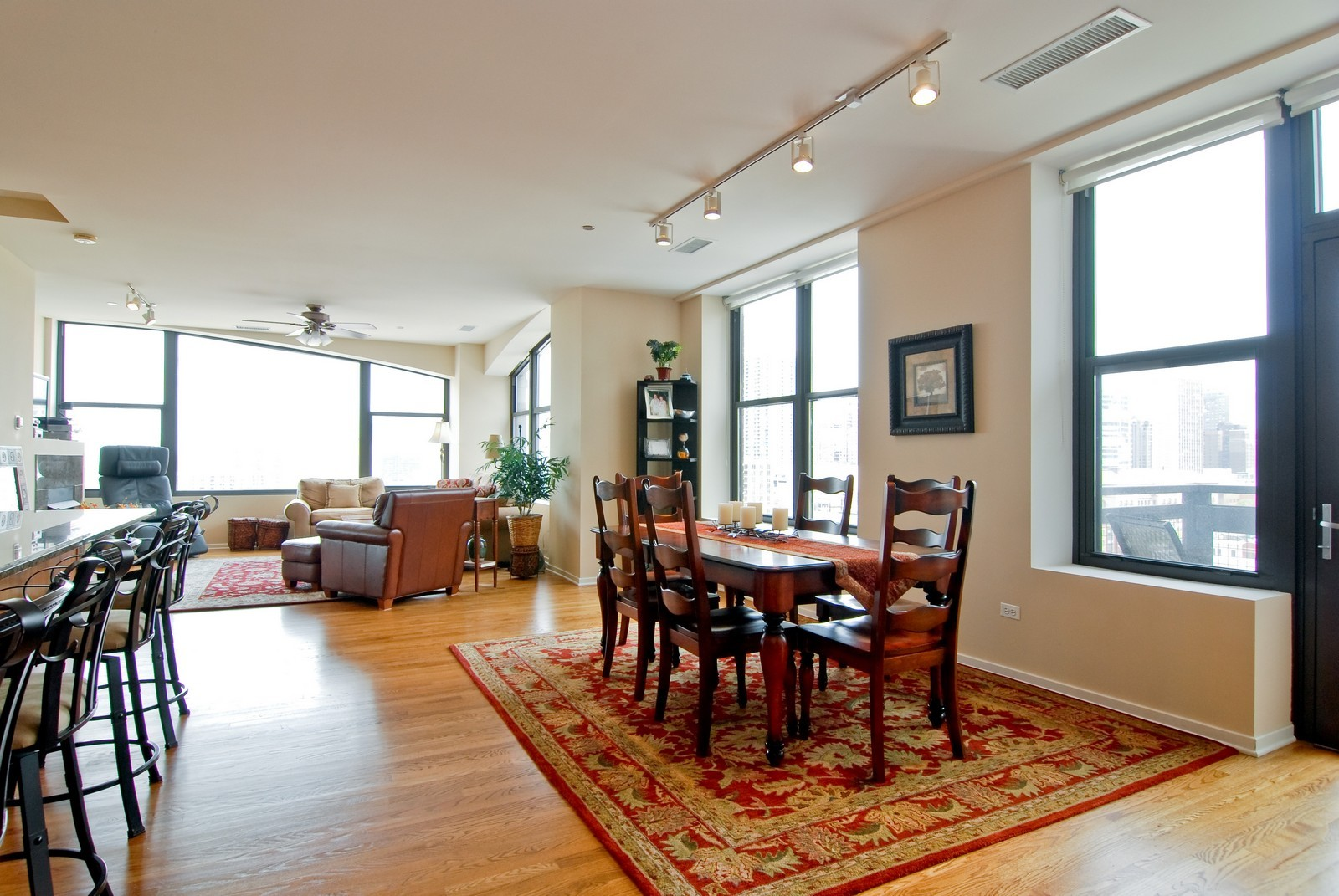 Real Estate Photography - 849 N. Franklin, 1107, Chicago, IL, 60610 - Living Room / Dining Room