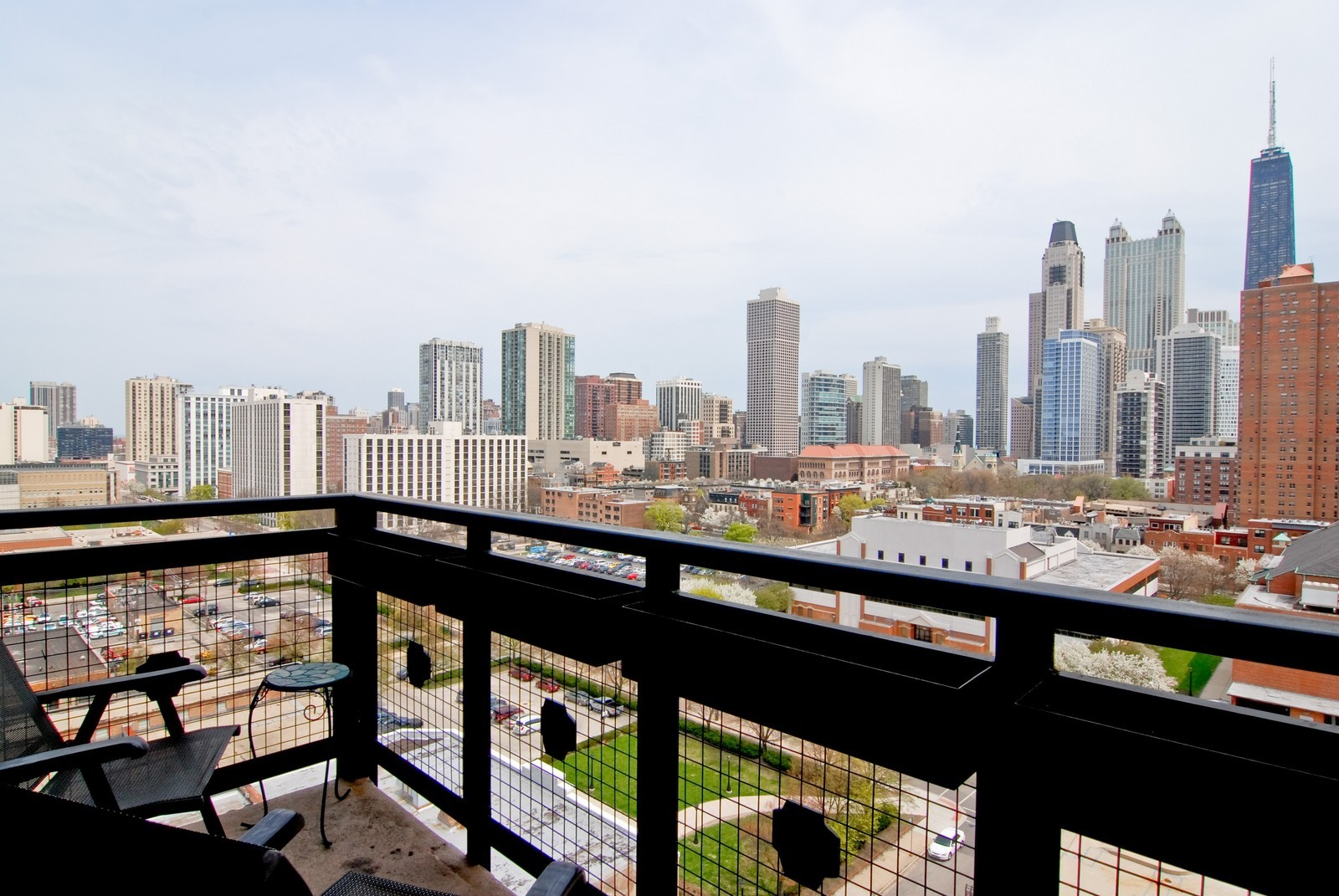 Real Estate Photography - 849 N. Franklin, 1107, Chicago, IL, 60610 - Balcony