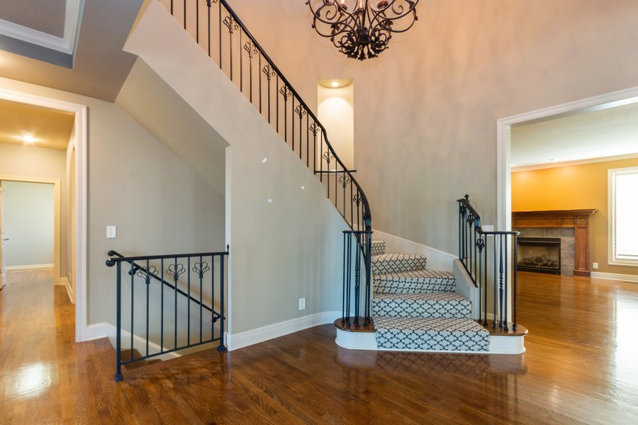 Real Estate Photography - 9116 W. 156th Place, Overland Park, KS, 66221 - Staircase