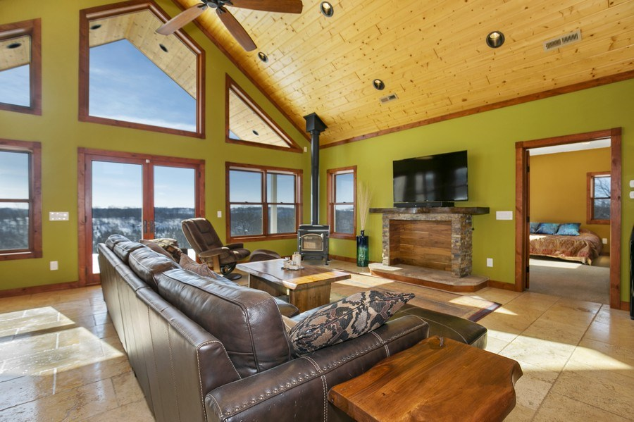 Real Estate Photography - 3472 W 450th Ave, Maiden Rock, WI, 54750 - Living Room