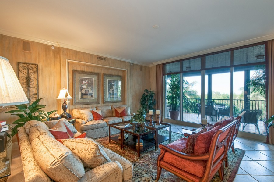 Real Estate Photography - 23750 Via Trevi Way, Unit #203, Bonita Springs, FL, 34134 - Living Room