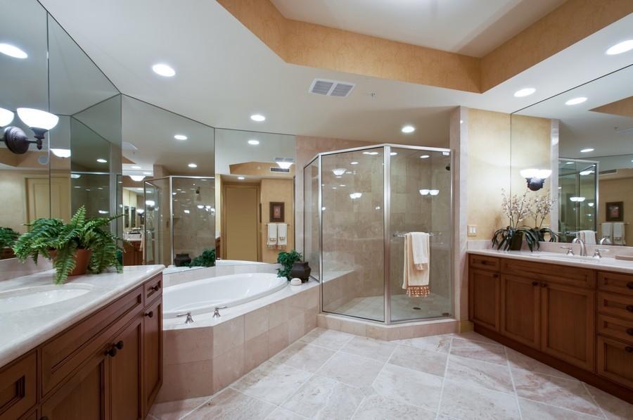 Real Estate Photography - 23750 Via Trevi Way, Unit #203, Bonita Springs, FL, 34134 - Master Bathroom