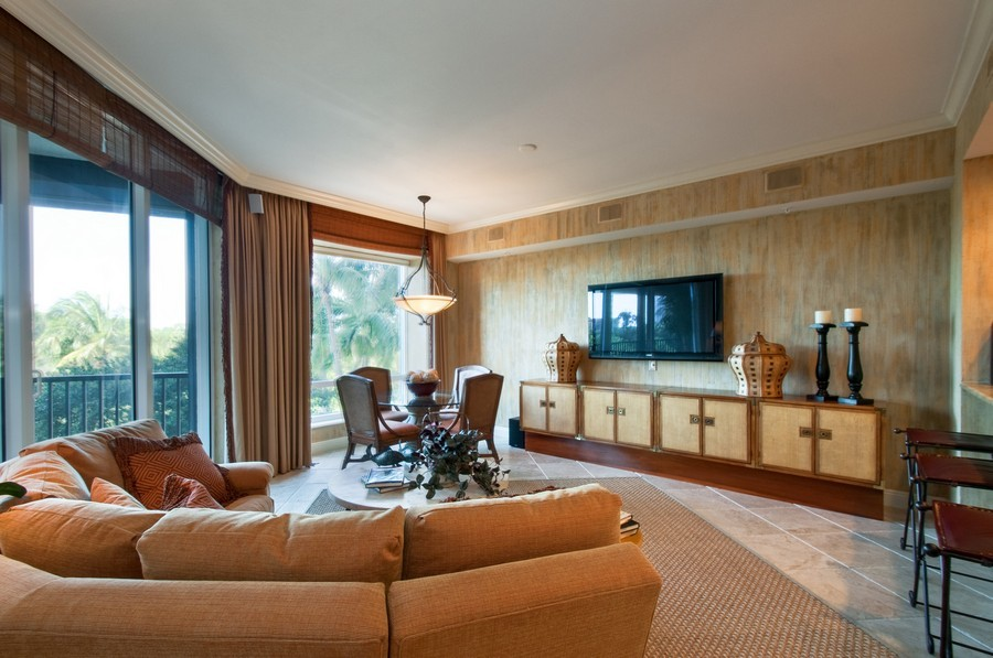 Real Estate Photography - 23750 Via Trevi Way, Unit #203, Bonita Springs, FL, 34134 - Family Room