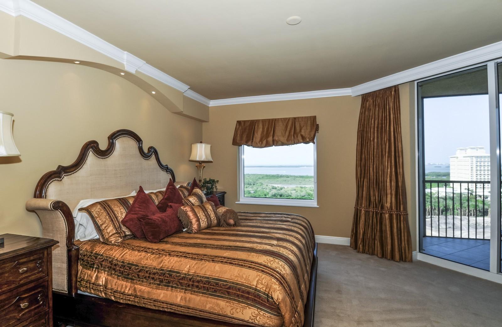 Real Estate Photography - 23540 Via Veneto, Unit 1705, Bonita Springs, FL, 34134 - Master Bedroom